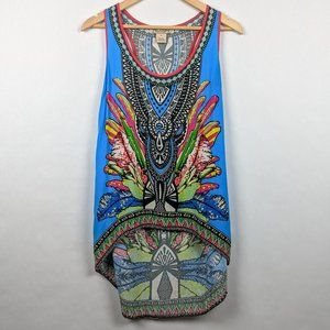 Flying Tomato High Low Tank Aztec Southwestern M